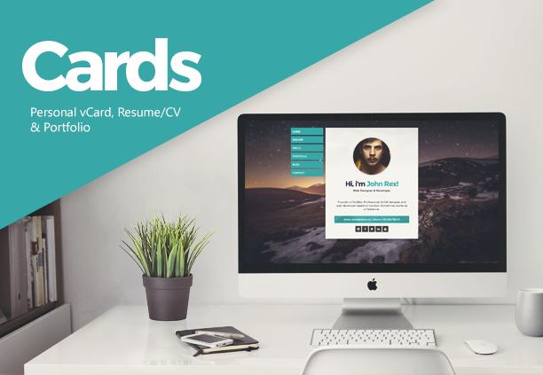 Cards - Personal vCard, Resume/CV & Portfolio - 1