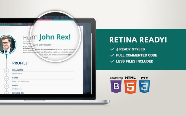 Vertica - Retina Ready Joomla Resume / CV & Portfolio