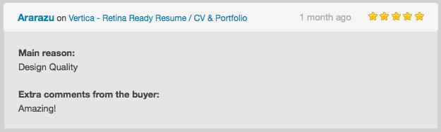 Vertica - Retina Ready Resume / CV & Portfolio