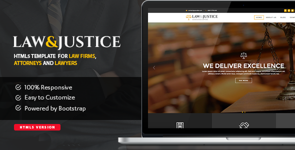 Law & Justice: Site Template